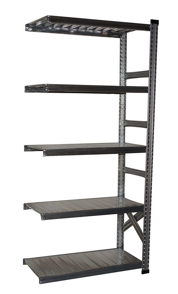 Étagère complémentaire Metalsistem 78 po hauteur, 36 po largeur, 13 po profondeur avec 4 niveaux ...