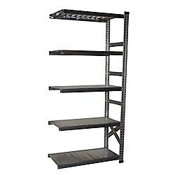 Super 123 Metalsistem Add-On Unit 78 Inch Height x 36 Inch Width x 13 Inch Depth With 4 Metal Shelf Levels