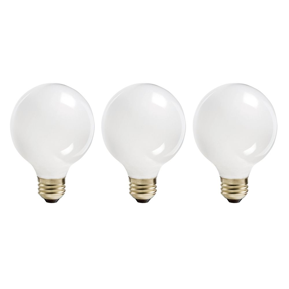 Halogen 60W Globe (G25) White 3 Pack