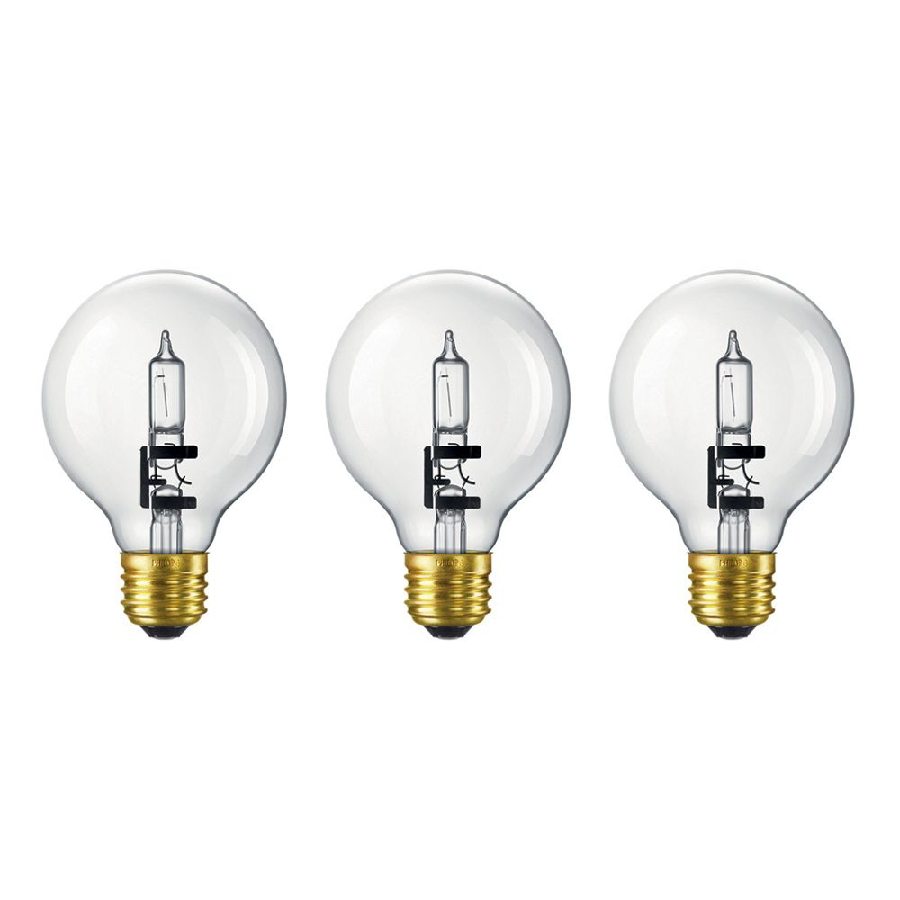 Halogen 60W Globe (G25) Clear 3 Pack