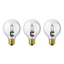 Philips Halogen 60W Globe (G25) Clear (3-Pack)