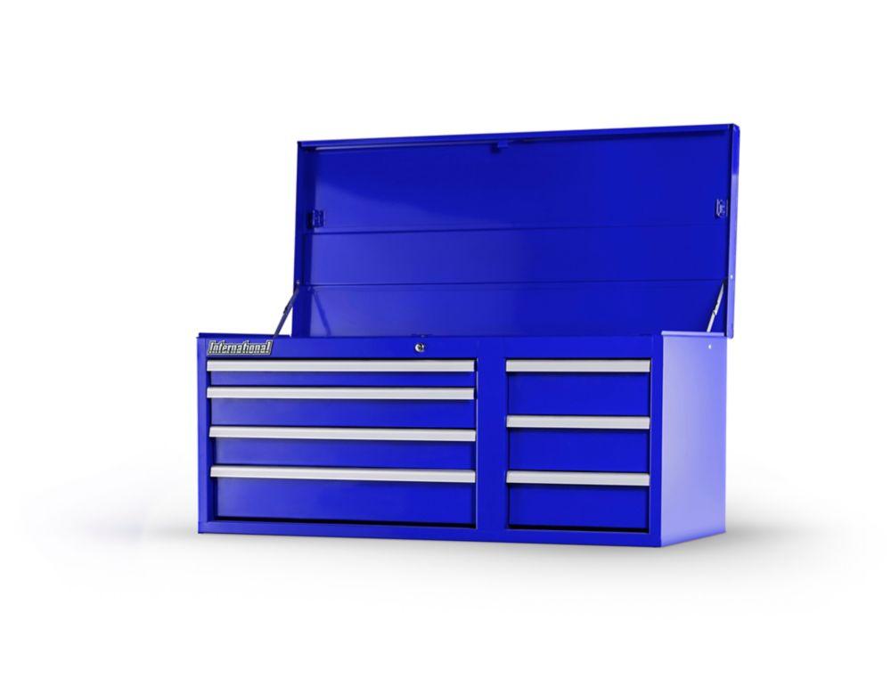Coffre 42 po. à 7 tiroirs, Bleu