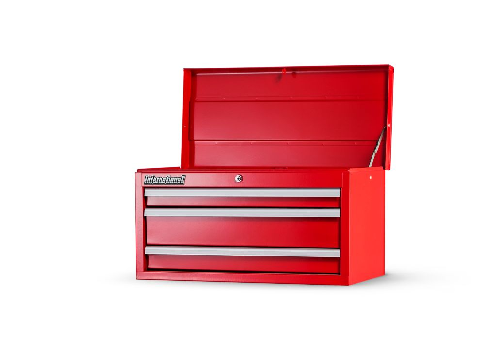 International 27 Inch. 3 Drawer Top Chest, Red