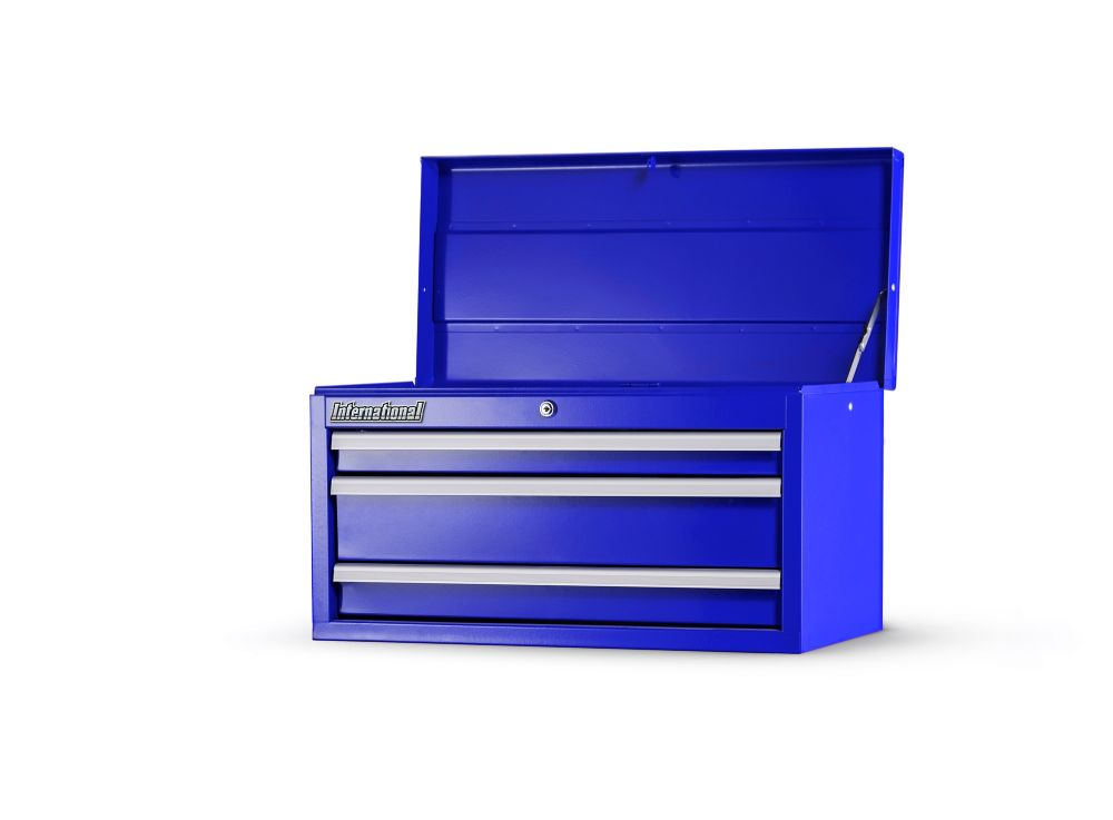 27 Inch. 3 Drawer Top Chest, Blue