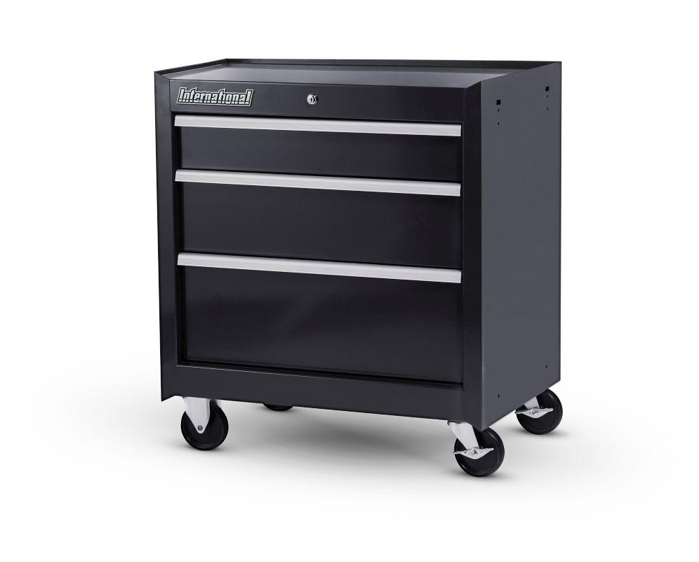 27 Inch 3 Drawer Cabinet,Black WRB-2703BK Canada Discount