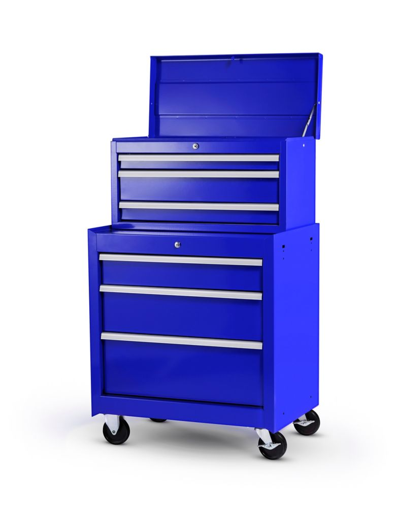 27 Inch. 6 Drawer Combination Set, Blue