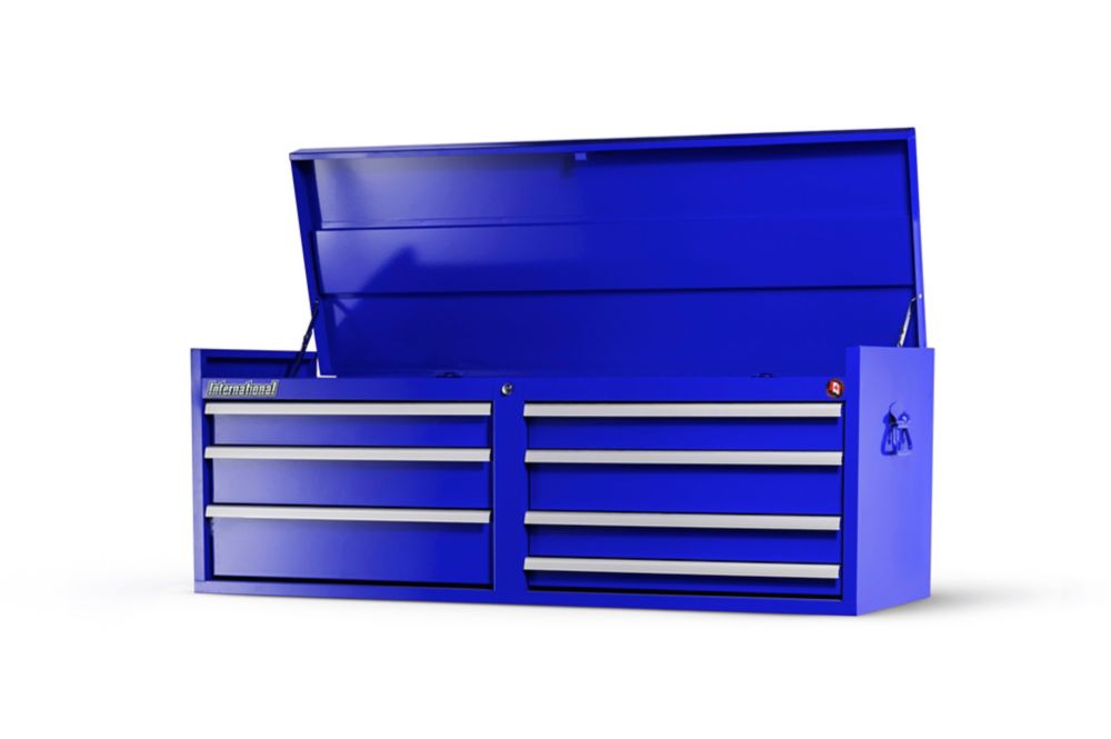 54 Inch. 7 Drawer Top Chest, Blue