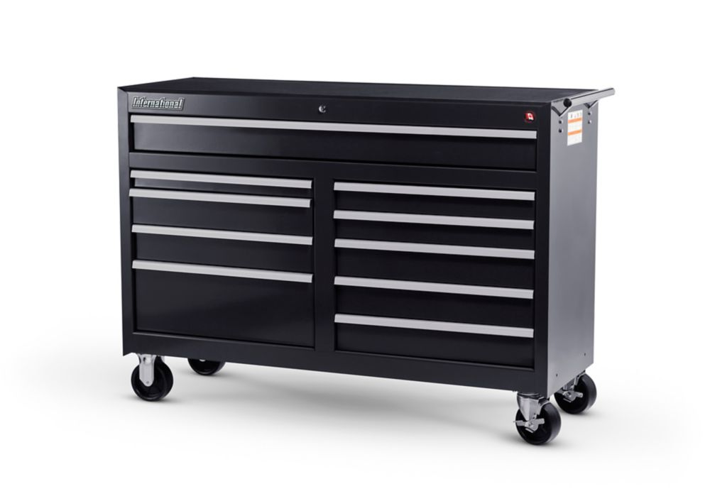 54 Inch. 10 Drawer Cabinet, Black