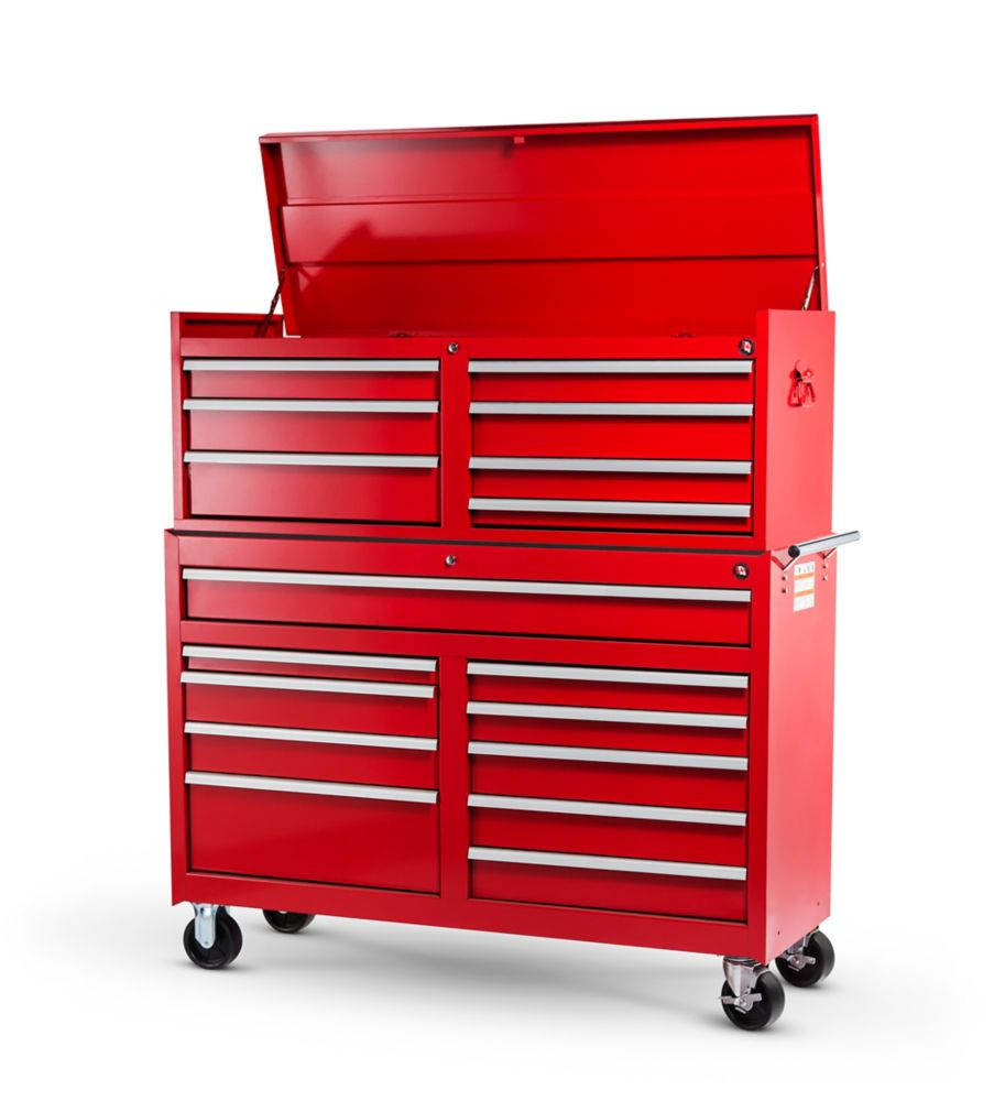 54 Inch. 17 Drawer Combination Set, Red