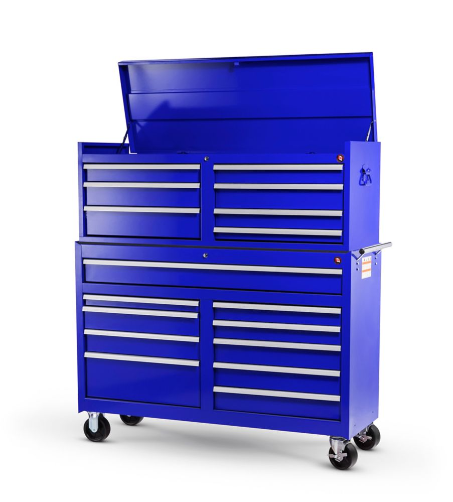 54 Inch. 17 Drawer Combination Set, Blue