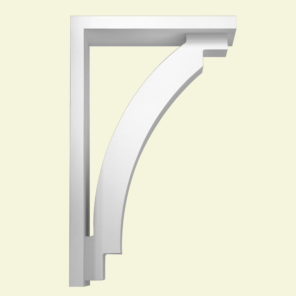 19 1/2-inch x 31 1/2-inch x 7 1/4-inch Primed Polyurethane Bracket Moulding
