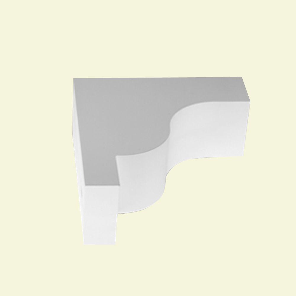 Console en polyuréthane apprêté 22-1/2 po x 8-1/2 po x 26 po
