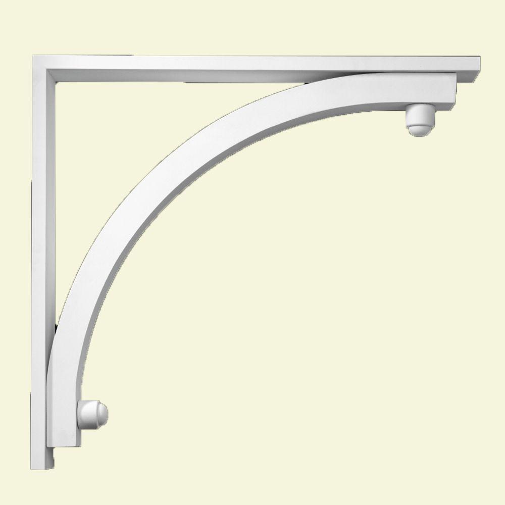 28-inch x 30-inch x 3 1/2-inch Primed Polyurethane Bracket Moulding