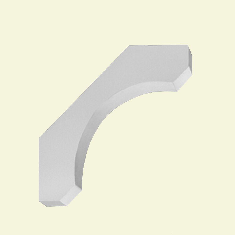 Console en polyuréthane apprêté 30 po x 6-7/8 po x 30 po