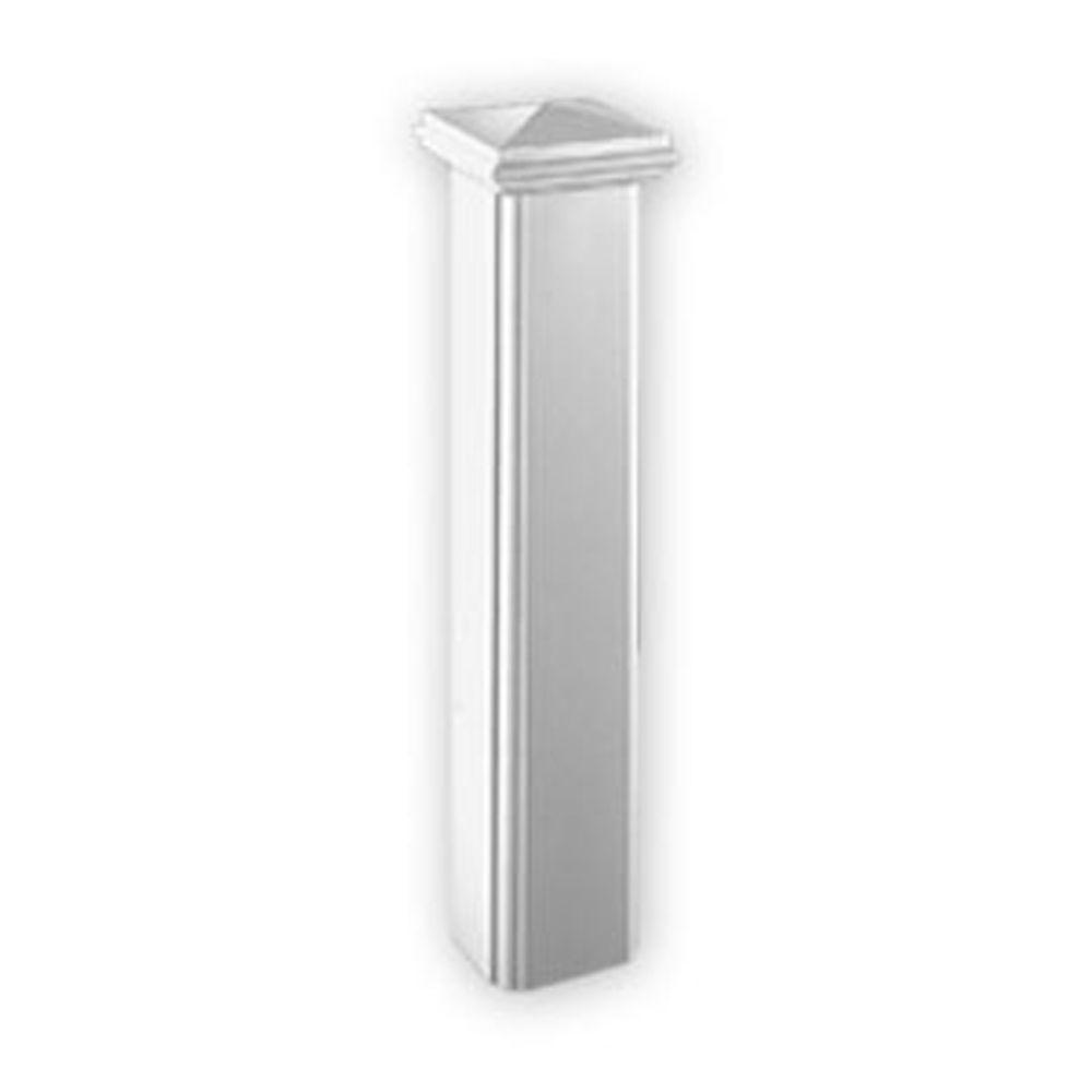 48-inch x 10-inch x 10-inch Polyurethane Corner Panel Newel Post Edge for 7-inch Balustrade Syste...