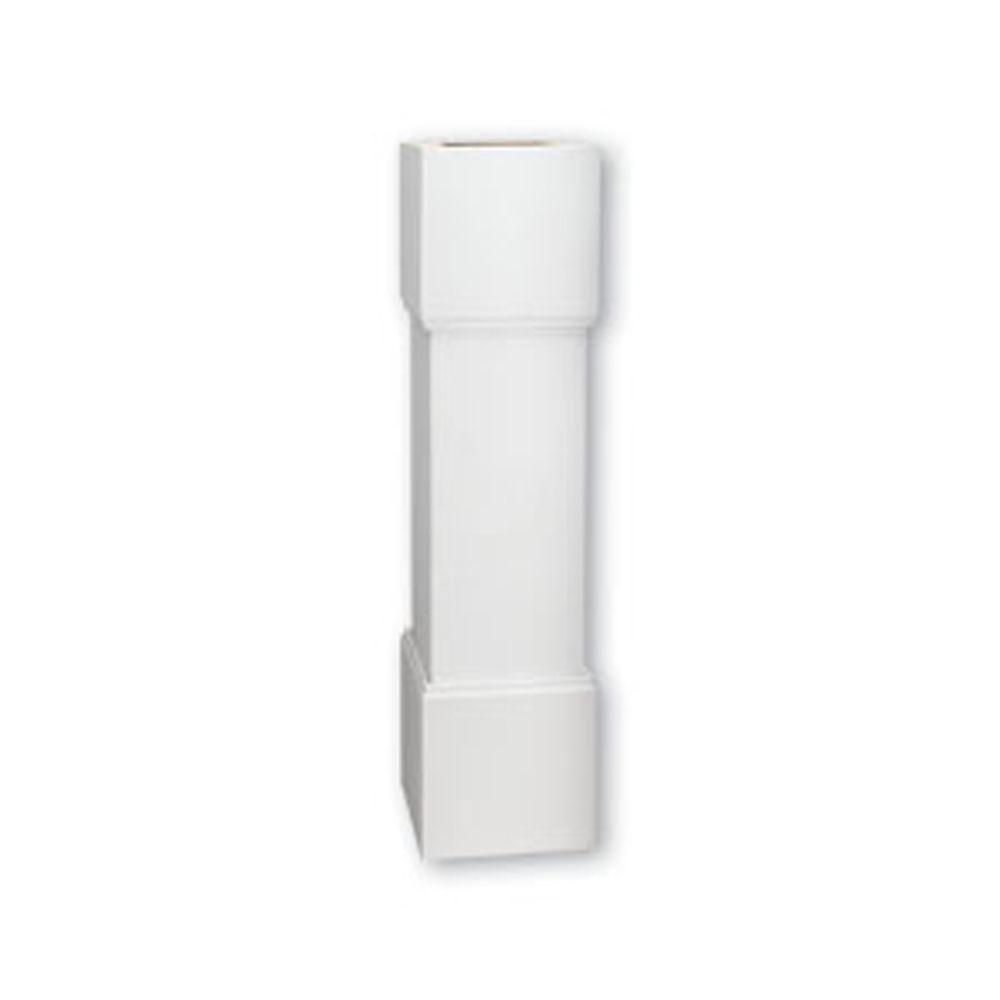 Pilastre standard pour balustrade de 7 po en polyuréthane 48 po x 12 po x 12 po