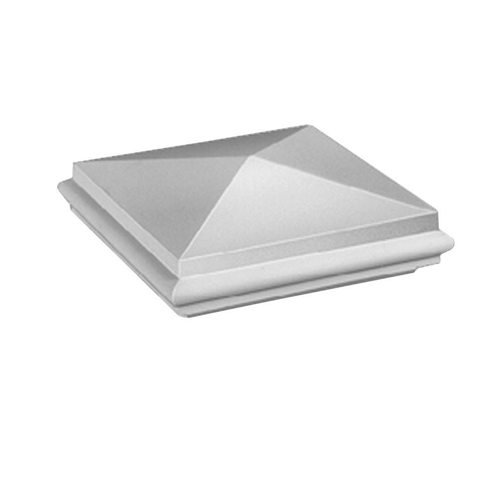 Capuchon de pilastre pointu élégant pour balustrade de 7 po en polyuréthane 4-1/2 po x 13-5/32 po...
