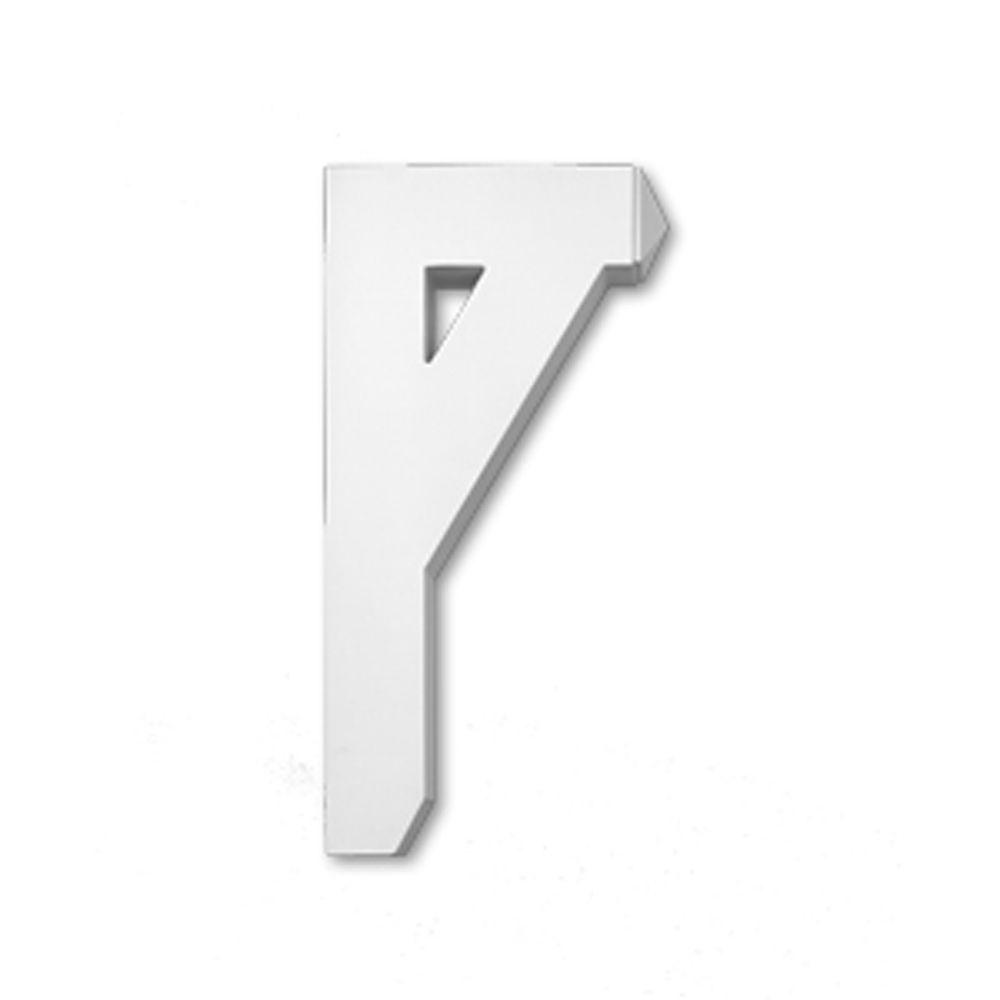 12 Inch x 3-1/2 Inch x 24 Inch Primed Polyurethane Bracket Moulding