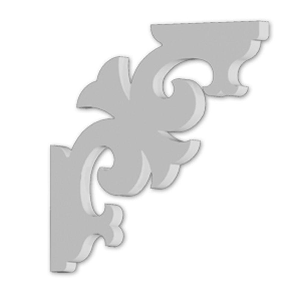 Console en polyuréthane apprêté 2-1/2 po x 16 po x 16 po