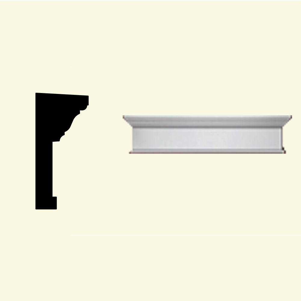 Linteau pour porte/fenêtre avec bordure inférieure en polyuréthane apprêté 36 po x 10 po x 4-1/2 ...