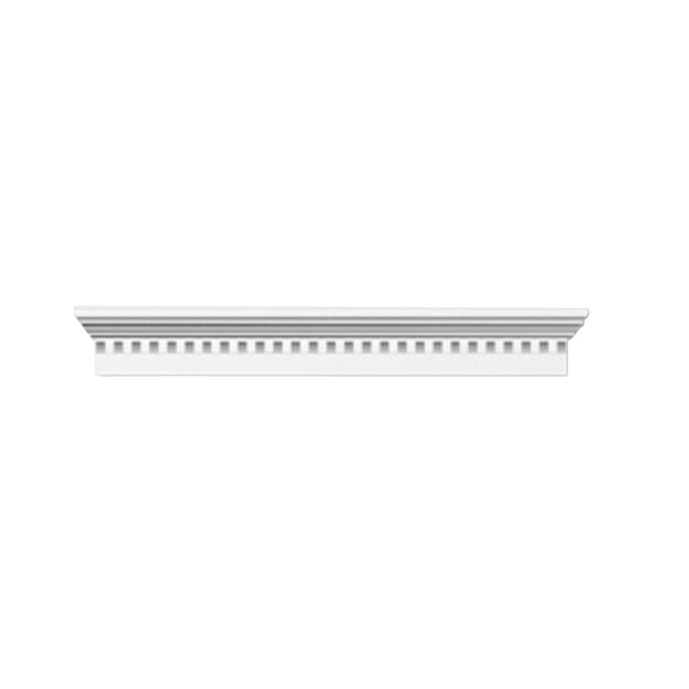 40 Inch x 6 Inch x 3 Inch Crosshead with Smooth Trim Dentil WCH40X6D in Canada