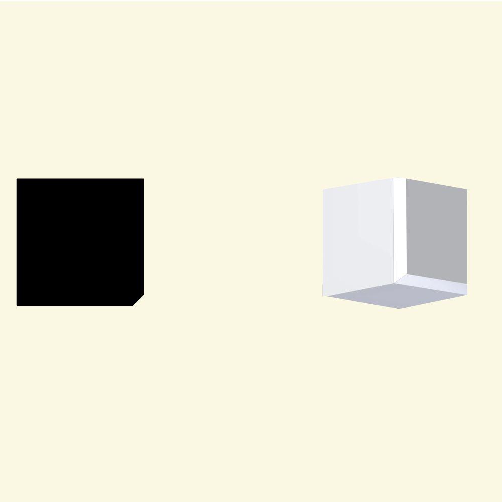 Bloc dentelé en polyuréthane apprêté 3-1/2 po x 3-1/2 po x 3-1/2 po