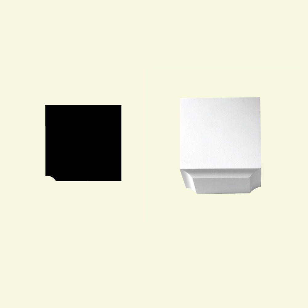 Bloc dentelé en polyuréthane apprêté 3-7/16 po x 3-1/2 po x 3-1/2 po