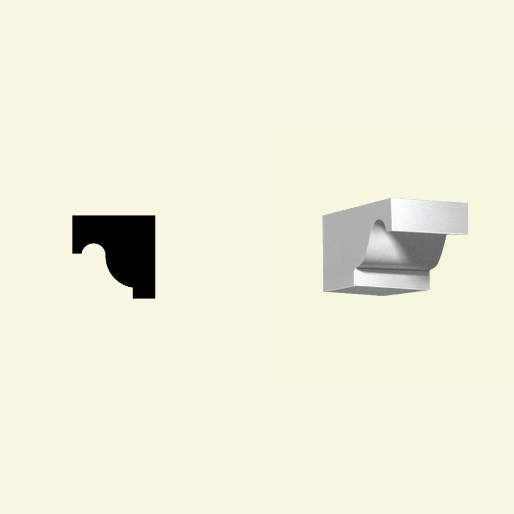 3 11/16-inch x 3 13/16-inch x 4 7/16-inch Primed Polyurethane Dentil Block