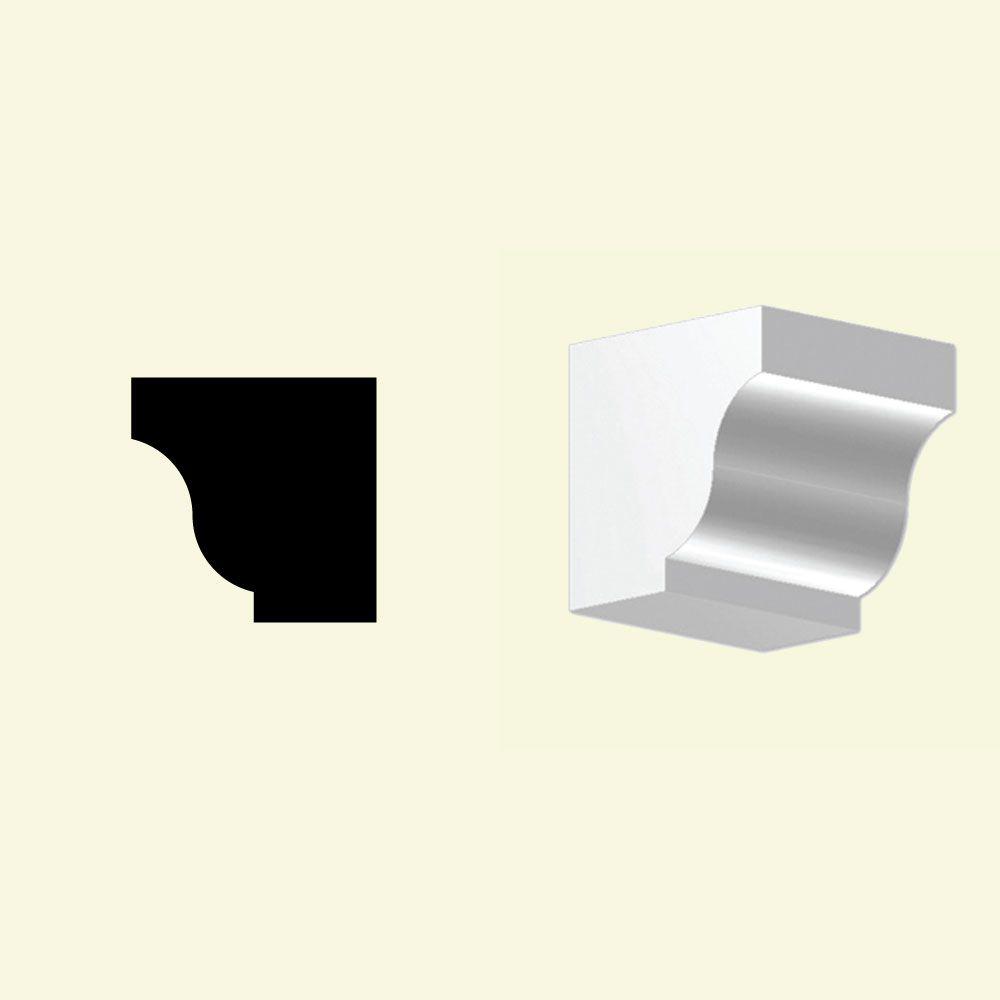 4 Inch x 4 Inch x 4 Inch Primed Polyurethane Dentil Block