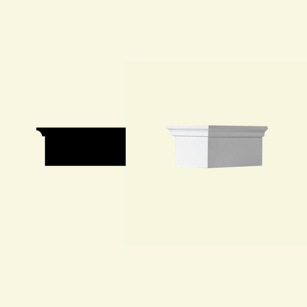 3 3/8-inch x 5-inch x 7 3/4-inch Primed Polyurethane Dentil Block