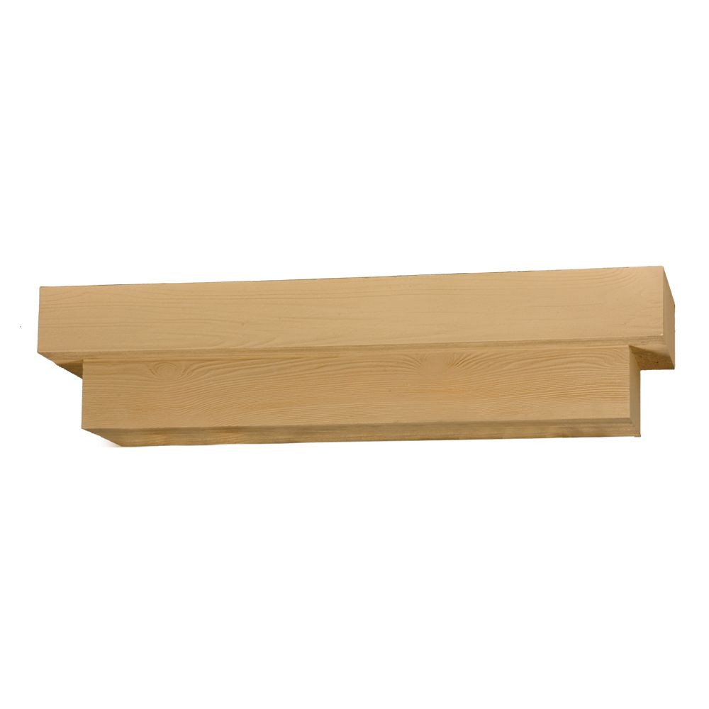 72 Inch x 8 Inch x 10 Inch Wood Grain Texture Square Pot Shelf