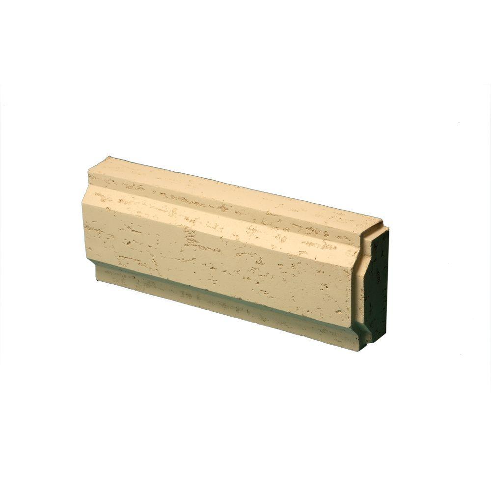 8-31/32 Inch x 24 Inch x 3-7/8 Inch Stone Texture Decorative Trim Block