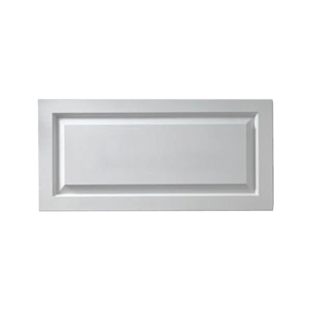 1-1/8 Inch x 18 Inch x 38 Inch Window Raised Panel Adjustable Smooth Shutter