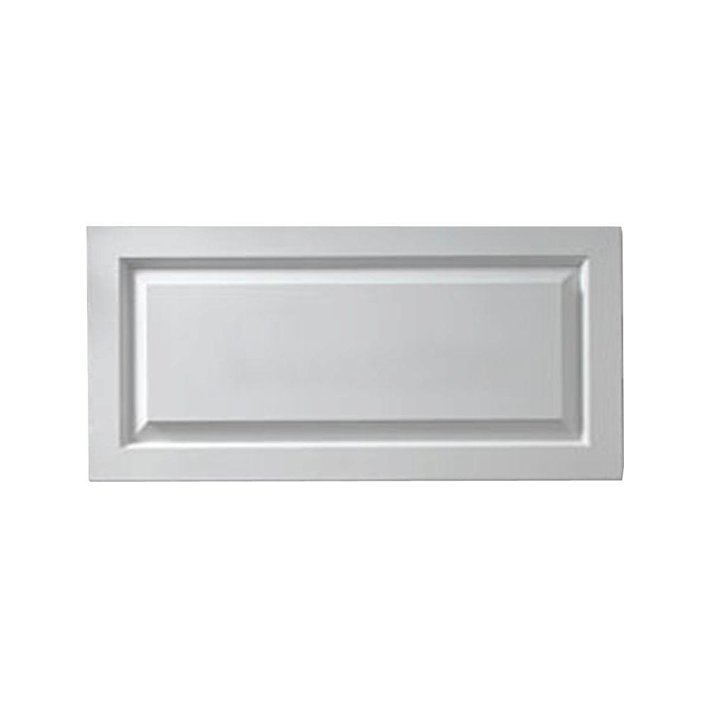 1-1/8 Inch x 17 Inch x 44 Inch Window Raised Panel Smooth Shutter