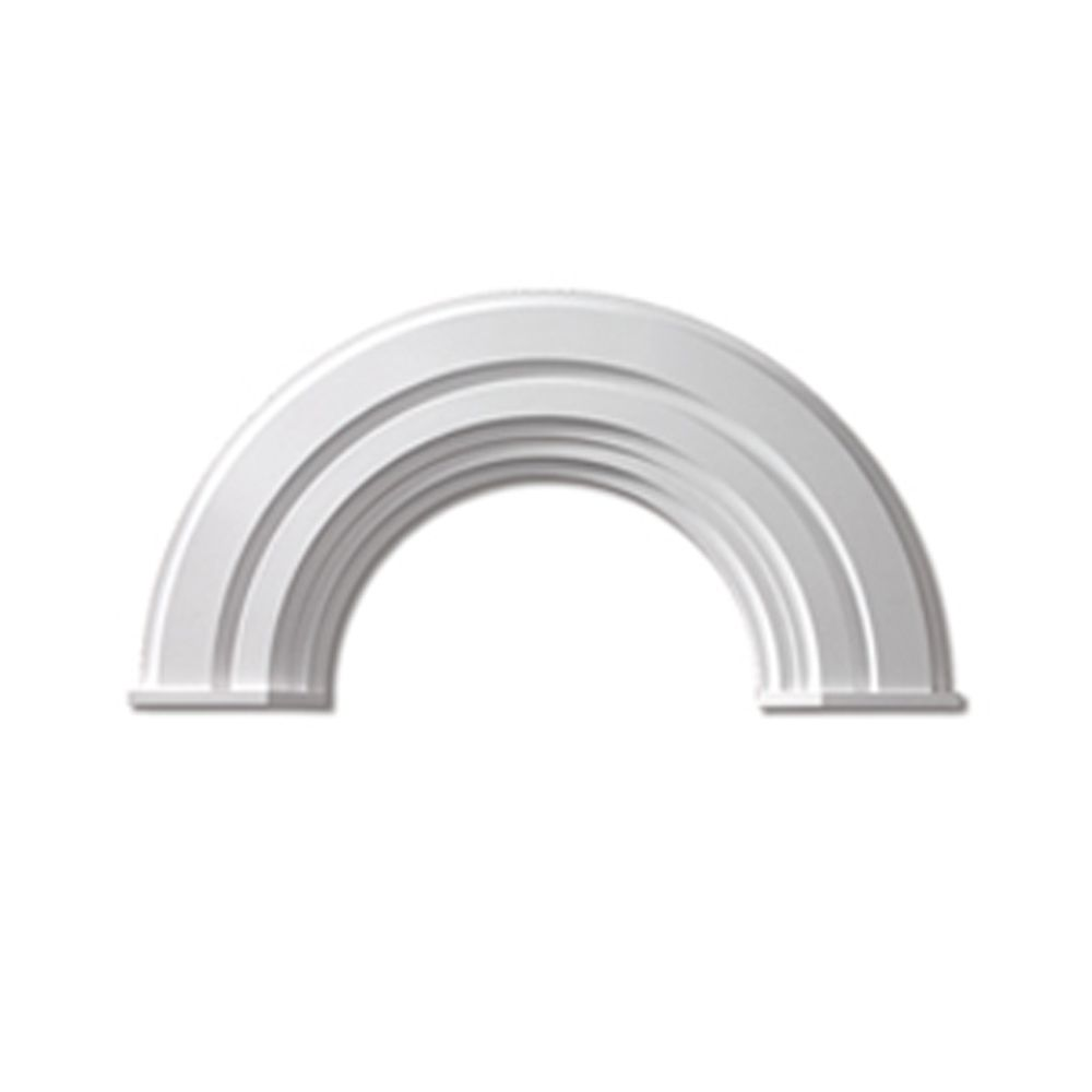 60 Inch x 41-1/4 Inch x 2-3/4 Inch Polyurethane Half Round Arch Decorative Trim with End Cap AR60X10MC in Canada
