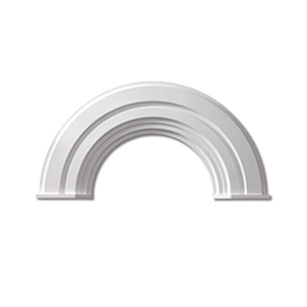 Moulure décorative en demi-cercle avec capuchon en polyuréthane 60 po x 41-1/4 po x 2-3/4 po