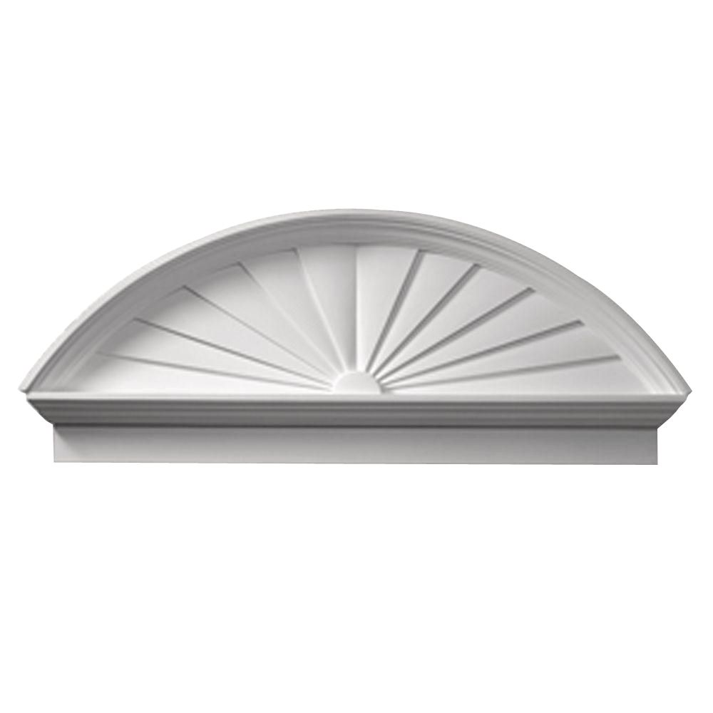 50 Inch x 20-3/4 Inch x 3-1/8 Inch Smooth Combo Sunburst Pediment CSP50 in Canada