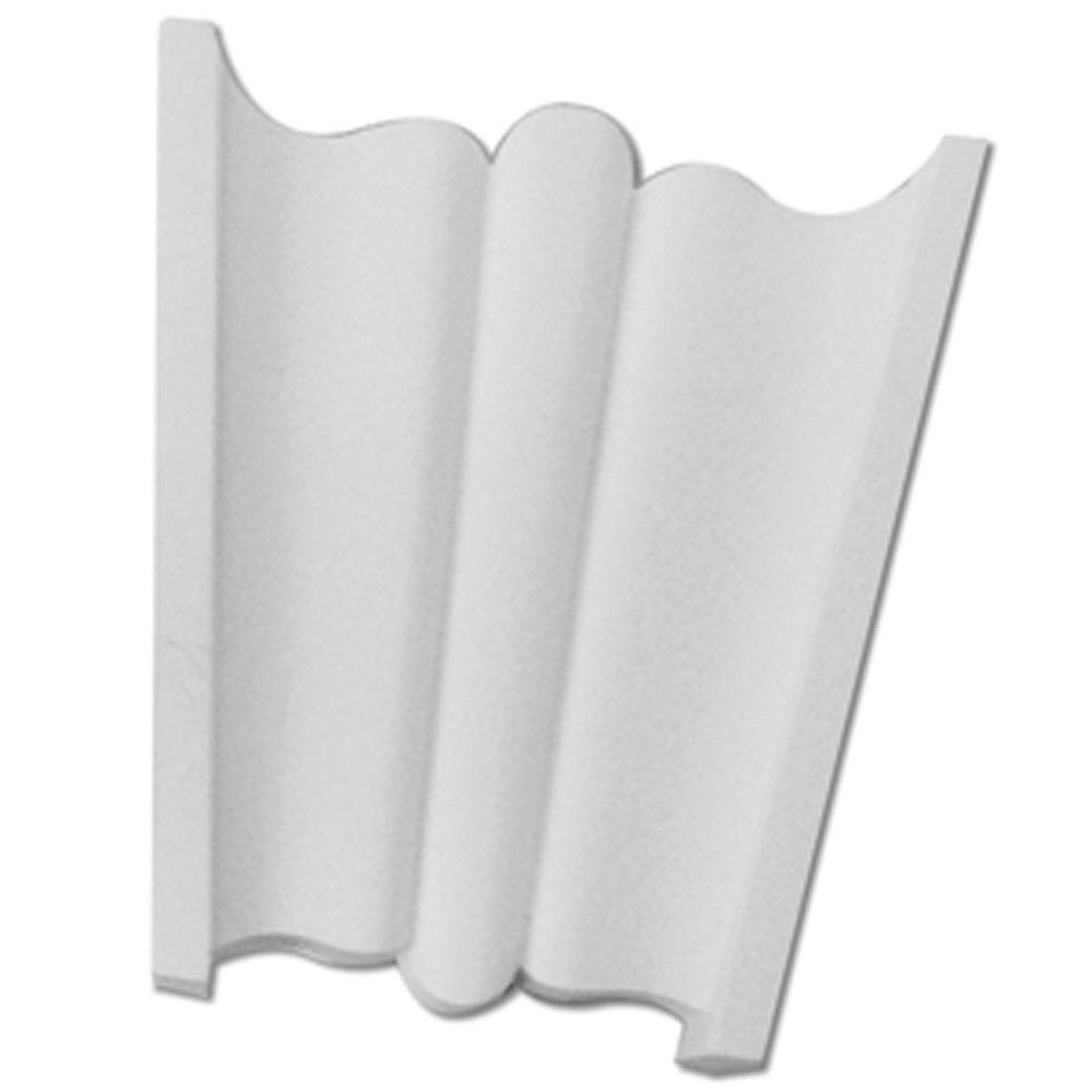 4-1/4 Inch x 4-1/2 Inch x 2-1/4 Inch Polyurethane Keystone Trim Profile