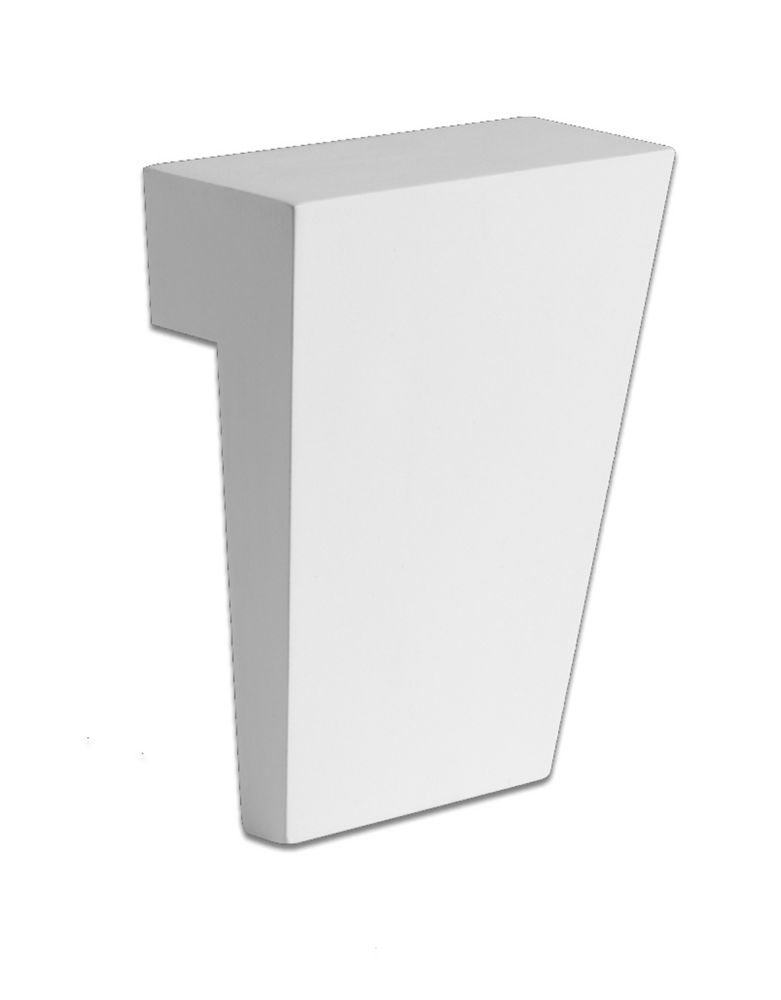 Clé de voûte pour bordure plate ou arquée en polyuréthane 43 po x 9 po x 4-1/2 po