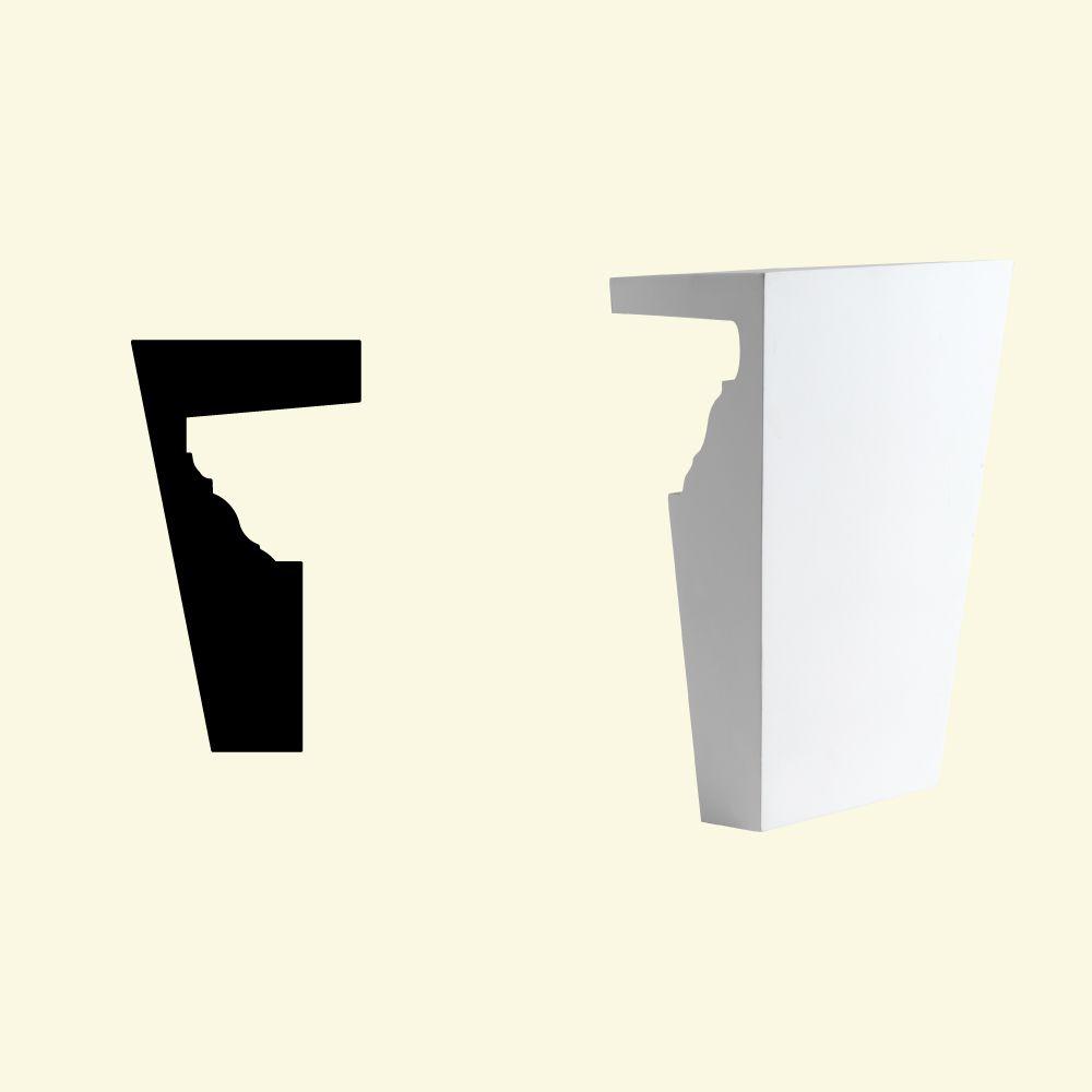 Clé de voûte en polyuréthane de 46 po x 6 po x 3 po pour linteau de porte/fenêtre de 8 po