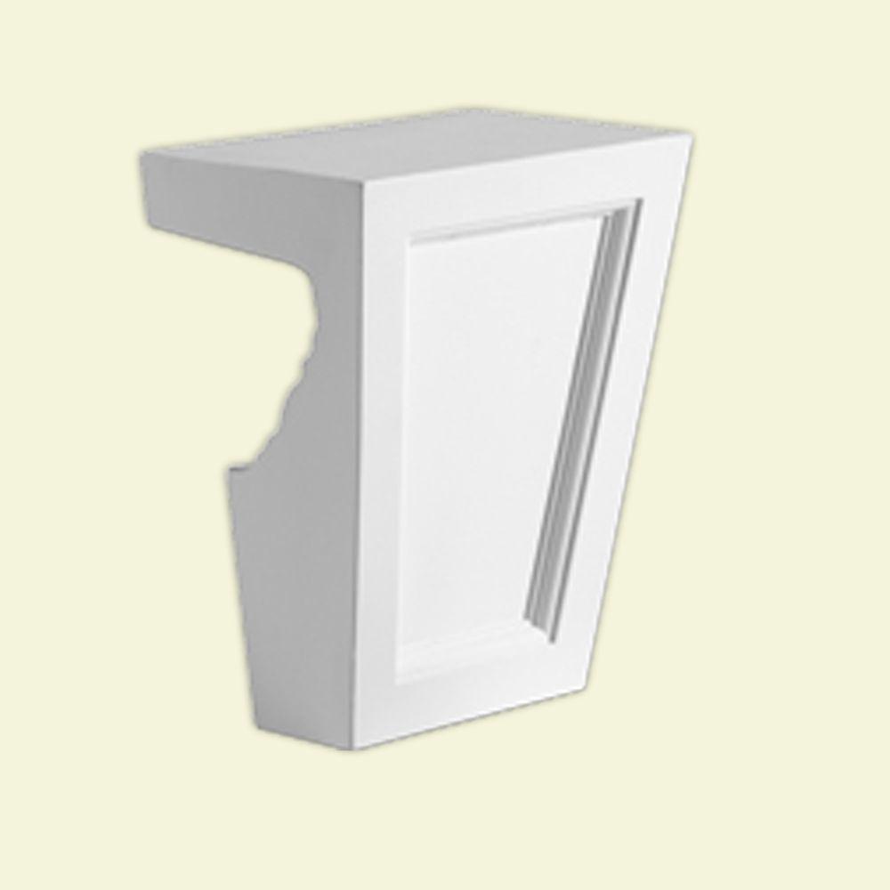 Clé de voûte en polyuréthane de 8 po x 11 po x 6-1/4 po pour linteau de porte/fenêtre de 9 po et ...