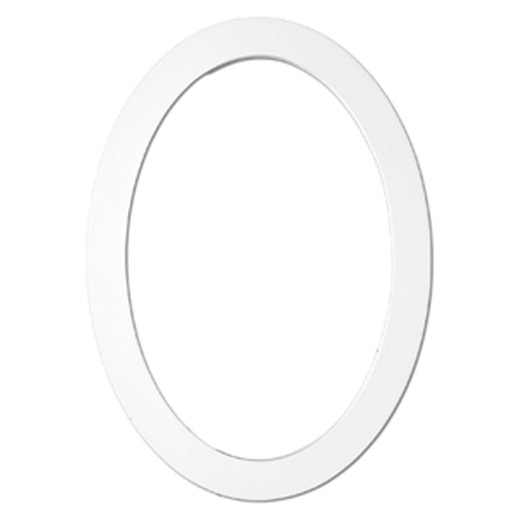 36-1/16 Inch x 24-1/8 Inch x 1-3/4 Inch Primed Polyurethane Trim Oval Decorative