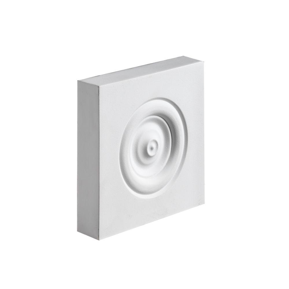 52 Inch x 6 Inch x 3 Inch Polyurethane Plinth Block Rosette