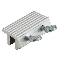 Prime-Line Sliding Door Lock, Double Screw, Aluminum Finish