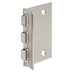 Door Lock, Flip-Action, Satin Nickel Us15