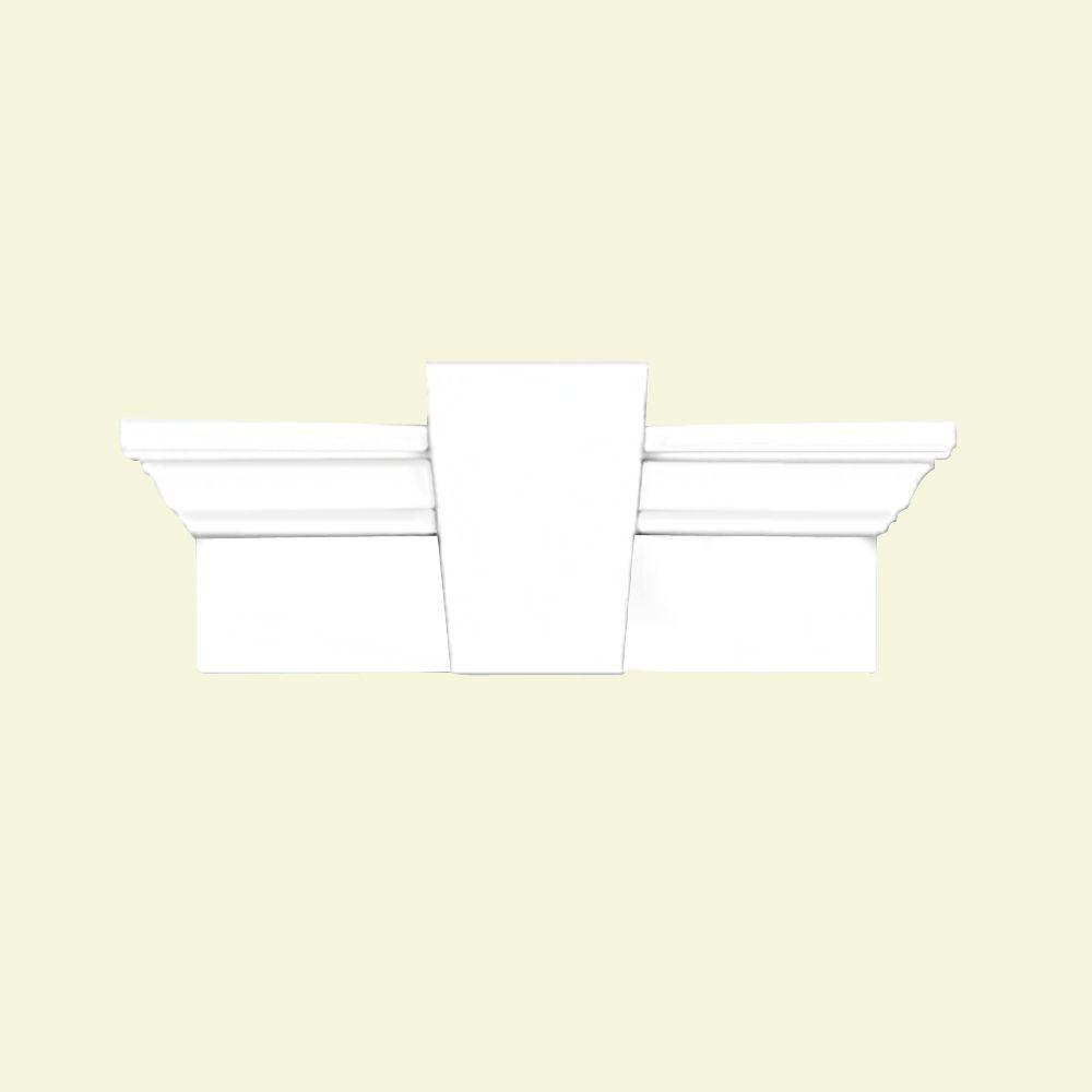 Linteau avec clé de voûte lisse 80 po x 7 po x 3-7/8 po