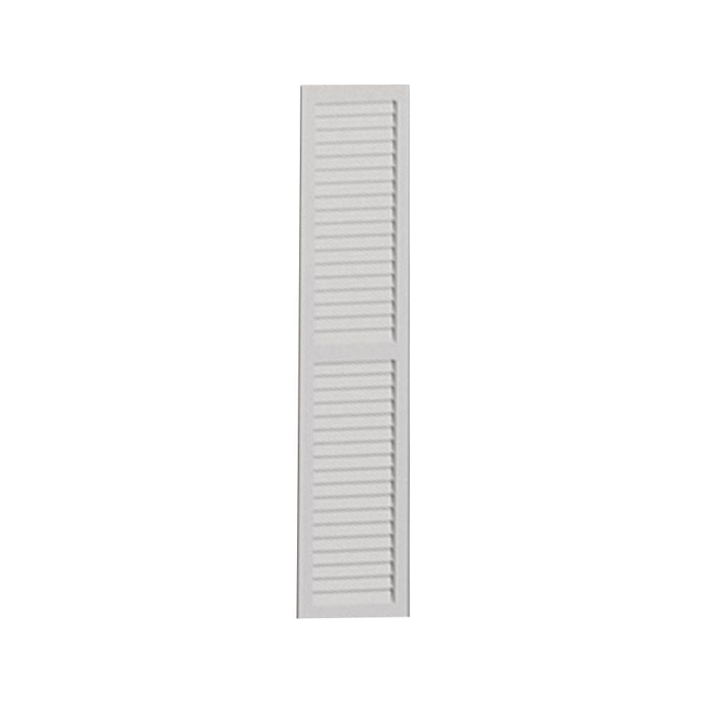 Volet lisse à persiennes à séparation centrale 66 po x 18 po x 1 po