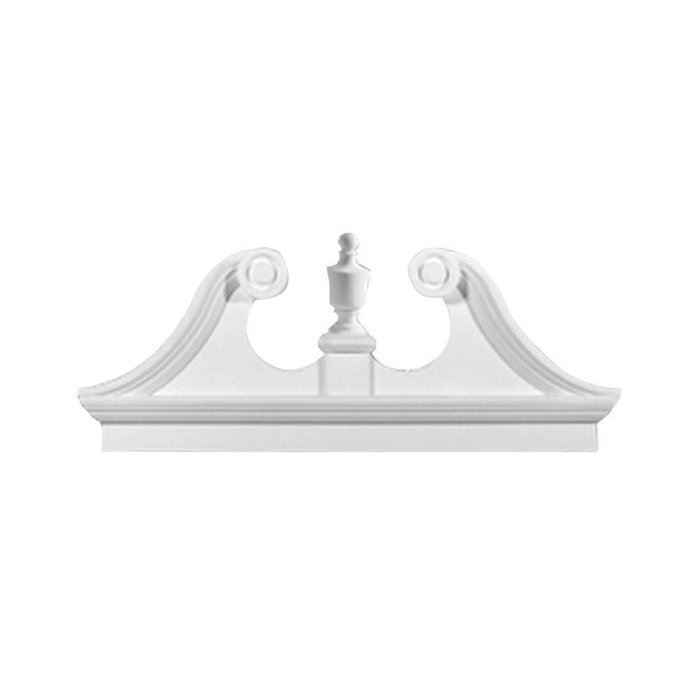 54 Inch x 23-1/2 Inch x 3-1/8 Inch Smooth Combo Rams Head Pediment CRHP54 in Canada