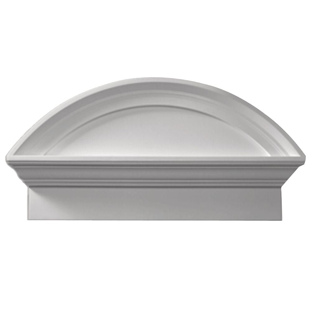 Fypon 36 inch x 20 inch x 4 1 2 inch smooth combo segment for Fypon window pediments