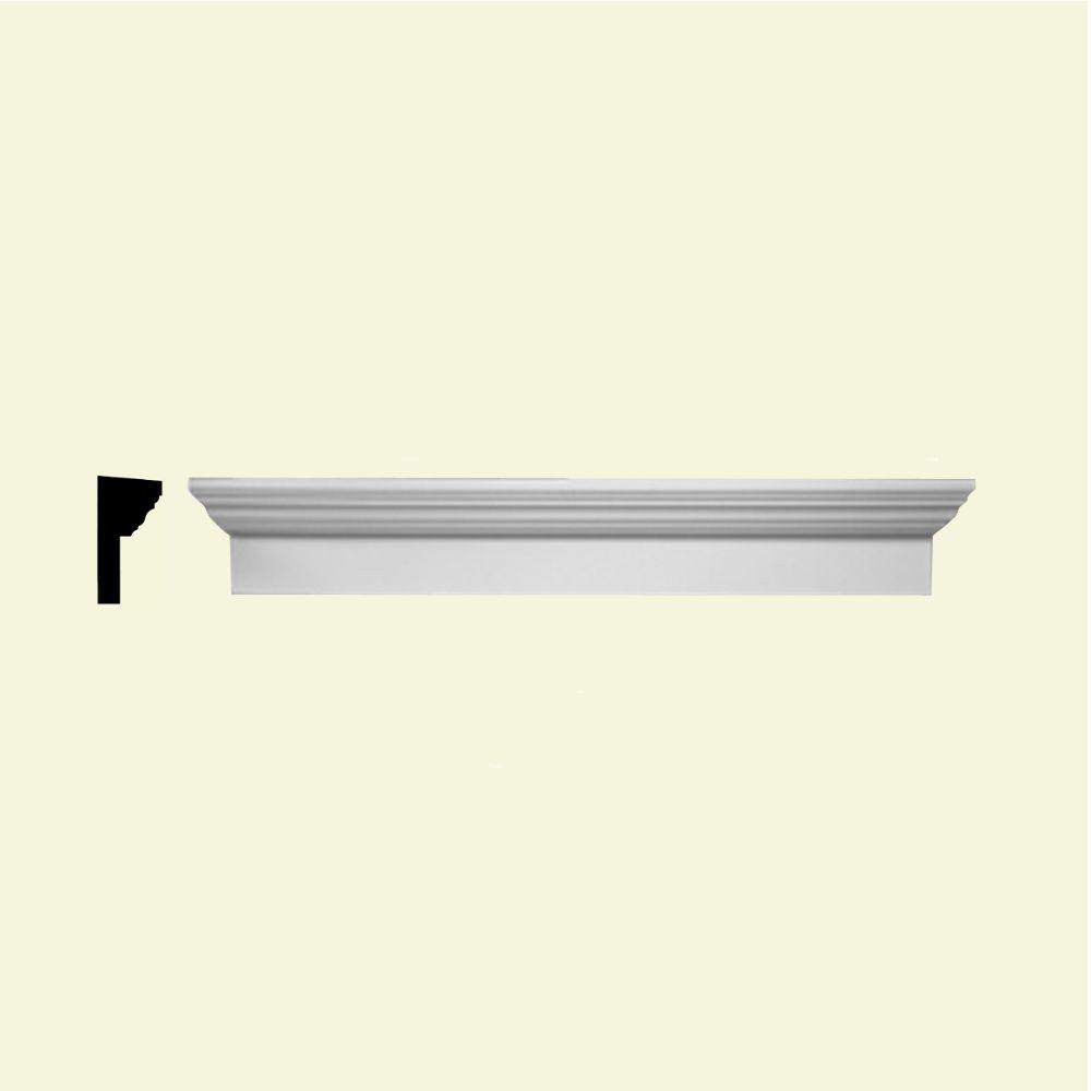 Linteau pour porte/fenêtre en polyuréthane apprêté 43 po x 9 po x 4-1/2 po